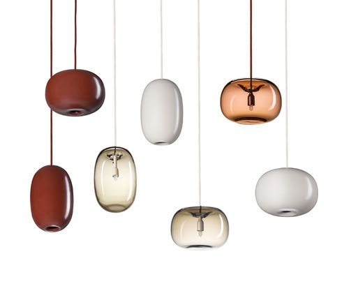 Lampe suspension / contemporaine / en métal / en verre soufflé ...