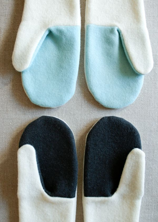 Quality Sewing Tutorials: Felted Wool Mittens by Molly of The Purl Bee