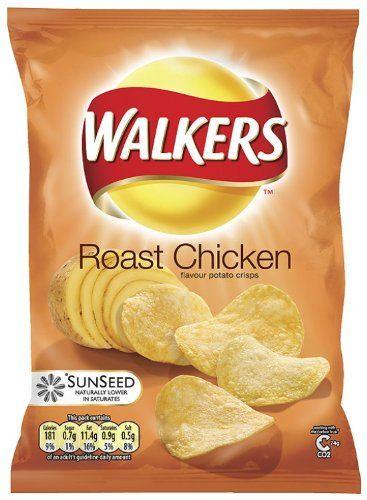 Walkers Crisps Roast Chicken 34.5 g (Pack of 48): Amazon.co.uk: Grocery