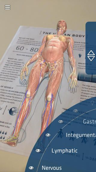 Anatomy 4D puts every detail of the most complex human bodily systems into a free app that is easy to use, accessible, and truly engaging.