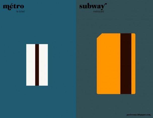 Paris VS New York.   Métro vs Subway.