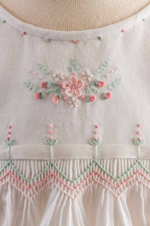 Enchanted Gardens by Debbie Glenn from issue 2 of the new magazine Classic Sewing available at smocking.com