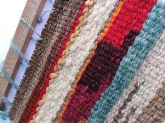 tapices decorativos  lana pura de oveja,hilada y teñida a mano tapiz tradicional