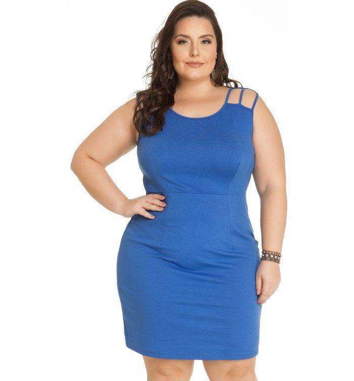 9743e2faf 165 Modelos de Vestidos para Gordinhas   Moda Plus Size   Pinterest ...