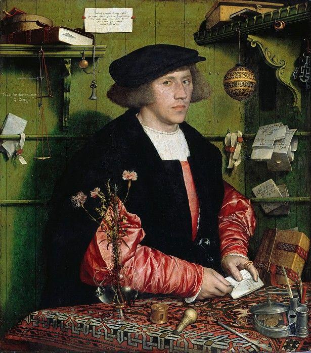 Гольбейн, Ганс II (1497-1543) - Портрет купца Георга Гисце.