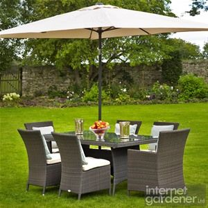 Bramblecrest Rio Classic 6 Seat Rectangular Rattan Furniture Set