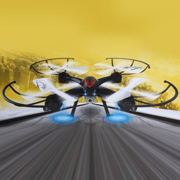 Duży niezniszczalny dron Spider z diodami
