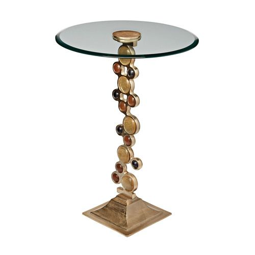 Ruby & Gold Side Table - 468-017
