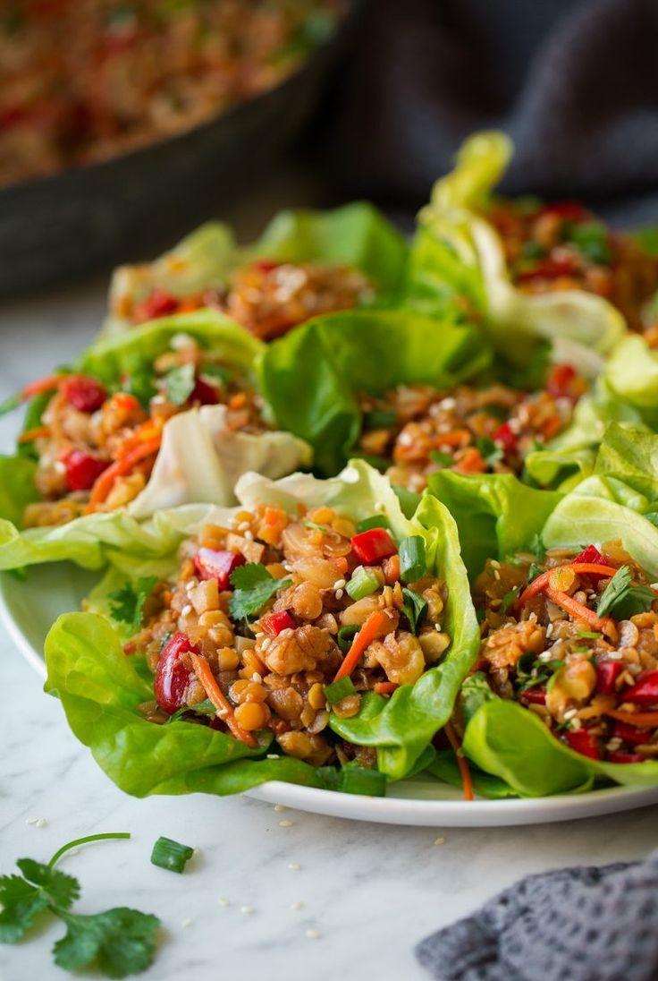 Asiatische Linsen Salat Wraps Asiatische Linsensalatwraps