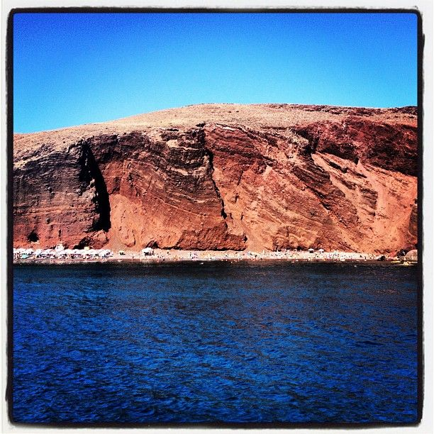 Instagram Photo by @CarrinoAnthony • #Santorini Red Beach from the catamaran