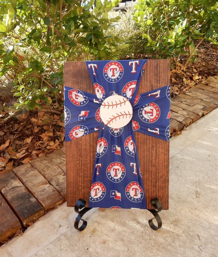 Texas Rangers Cross.Rangers.Texas Rangers Gift.Texas.MLB.Baseball.Rangers Fan.GIft for Rangers fan.Cross.Gift.Rangers room.Baseball Room.Kid by FabricCrossDecor on Etsy