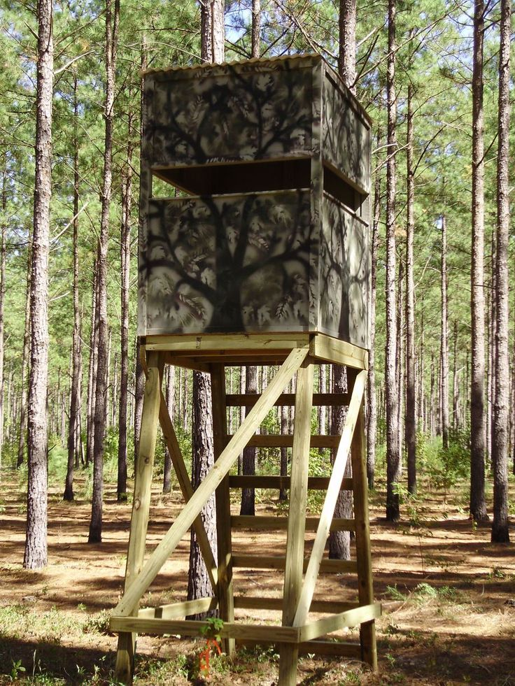 767 best tree stand ideas images on pinterest deer for Diy deer blind