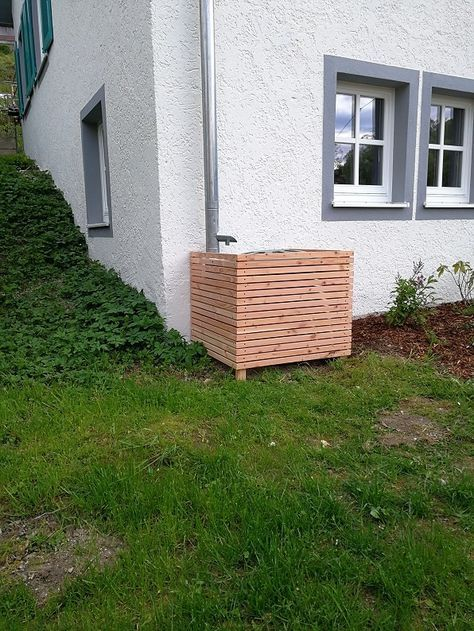 Bekannt einfache Verkleidung für Regentonne Bauanleitung zum selber bauen EP41