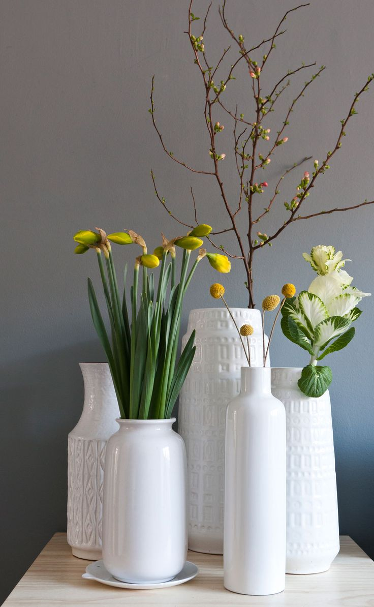 Ground floor in Bos en Lommer | photographer: Henny van Belkom | vtwonen december 2013 | Narcissus & Brassica