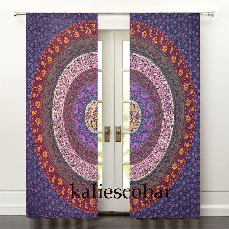 Multi Mandala Window Curtain Valances Hippie Mandala Curtain Wall Hanging #Unbranded #Traditional