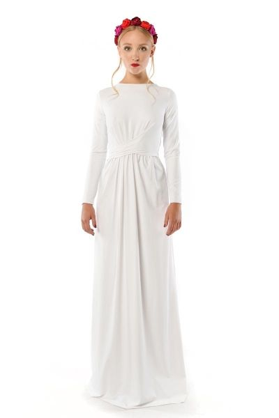 Cristina Patria 2 Maxi White : wysmuklająca biała suknia