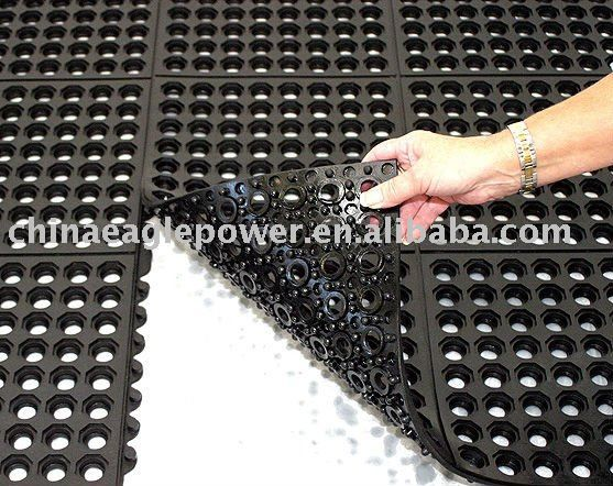 High Drainage interlocking Rubber Matting for workstations in wet areas $5~$8