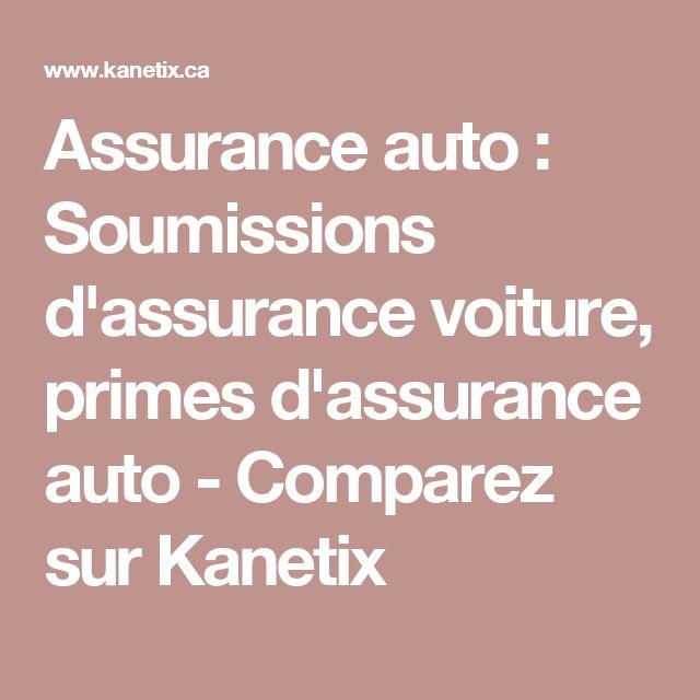 Assurance auto : Soumissions d'assurance voiture, primes d'assurance auto - Comparez sur Kanetix