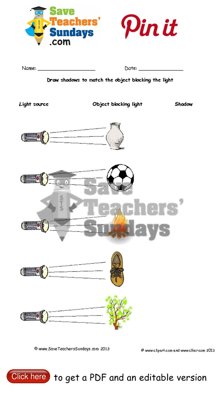 Draw shadows in the shape of objects blocking light. Go to http://www.saveteacherssundays.com/science/year-3/329/lesson-1-shadows-in-the-shape-of-objects/ to download this Draw shadows in the shape of objects blocking light. #SaveTeachersSundaysUK