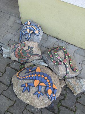 Mosaike für Garten: Mosaike : Eidechsen