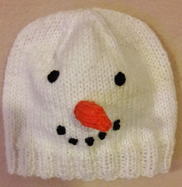 Snowman Hat, baby hat, Birthday gift, knitted hat, nursery, baby clothing, winter wear, baby accessories, infant wear, knitwear, novelty hat by Handcraftedgifts4u on Etsy