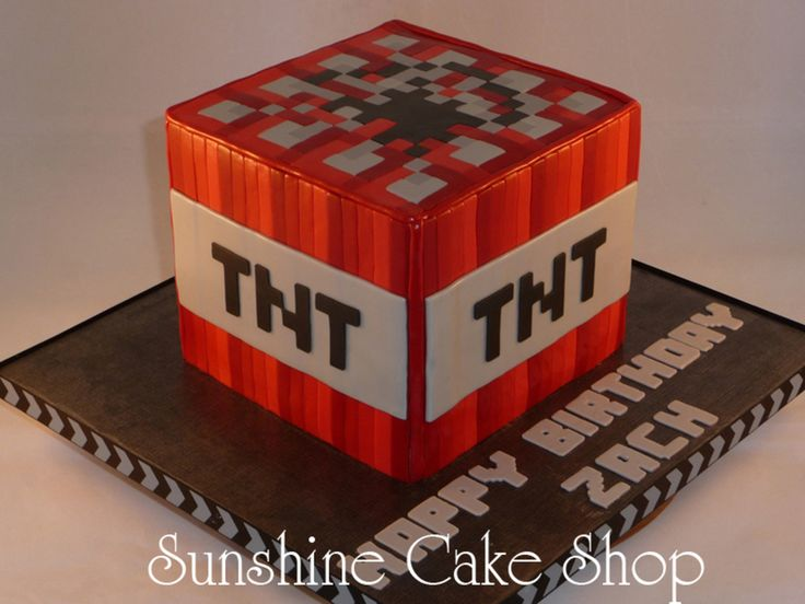 Minecraft Tnt Cube on Cake Central
