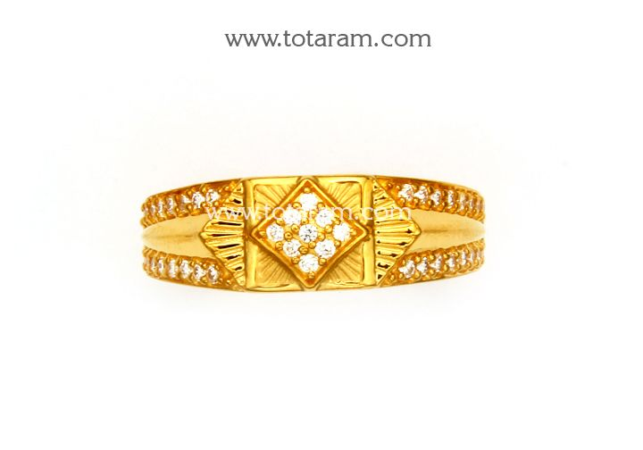 Check out the deal on 22K Gold Ring for Men With Cz at Totaram Jewelers: Buy Indian Gold jewelry & 18K Diamond jewelry