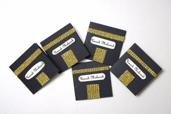 Black and Gold umrah handmade cardset umrah by HafsaCreates, $7.50