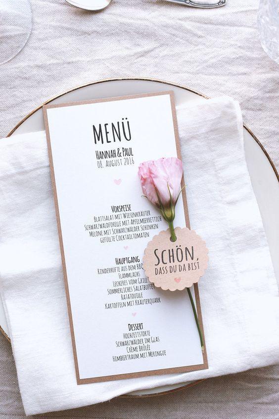 Selbstgemachte Papeterie für Ihre Hochzeit – mi…
