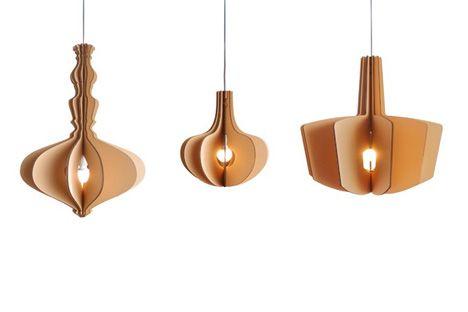 Eco-vriendelijke lamp van karton   | roomed.nl