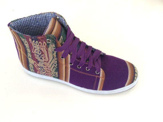 PANCHO'S FOOTWEAR  Men's Deep Purple High Top by PanchosFootwear