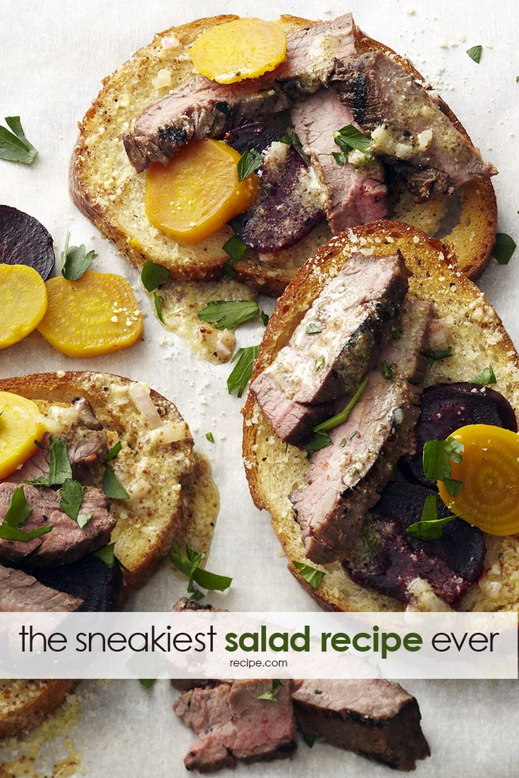 Sneak A Salad Into Your Familys Diet By Serving This Grilled Flank Steak And Roasted Beet