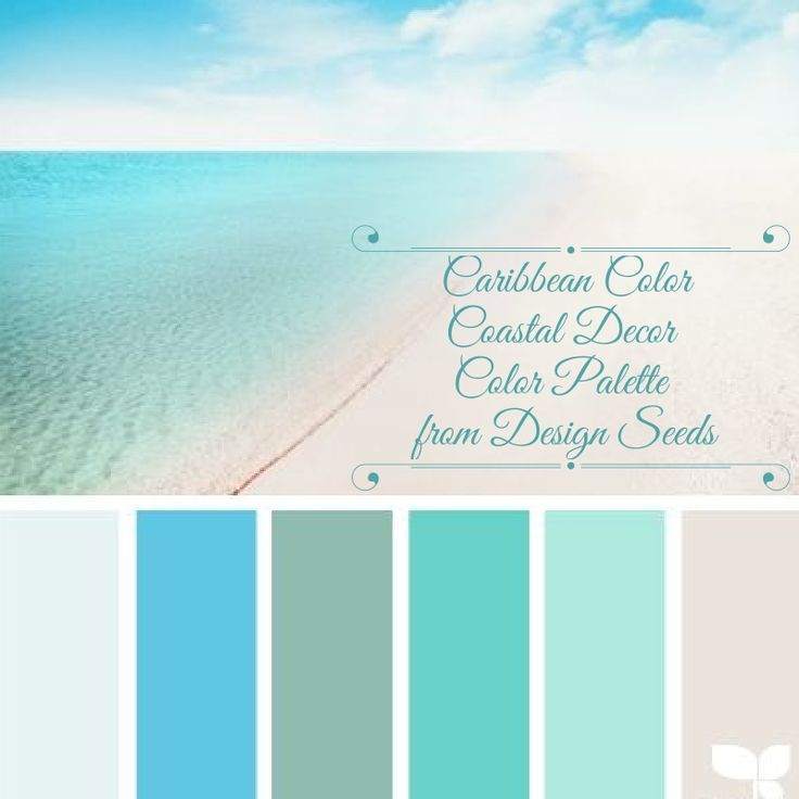 coastal decor color palette caribbean color from jessica colaluca - Home Decor Color Palettes
