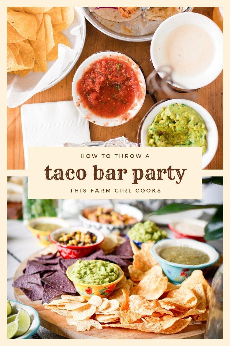 Taco Bar Checklist + How to Plan A Taco Bar Party | Taco ...