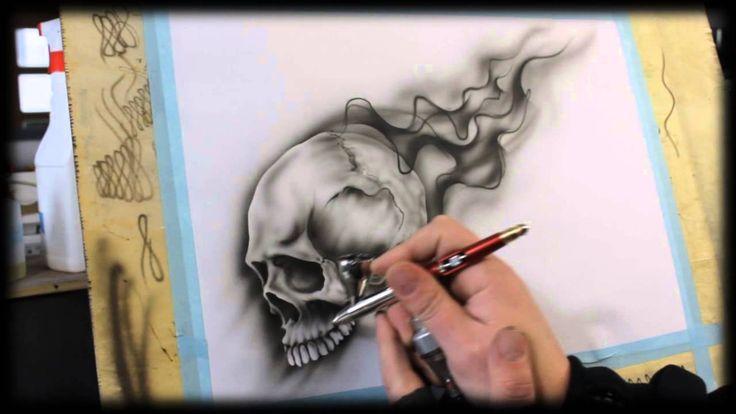 86 best airbrushing stuff images on pinterest skulls for Airbrush tattoo paint
