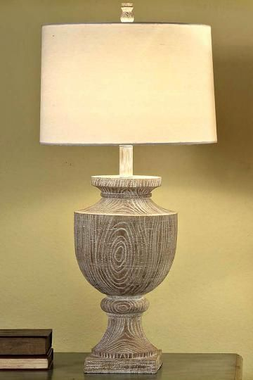 Aline Table Lamp Wood Base In Bleached Finish Includes An Off White Linen Living Room