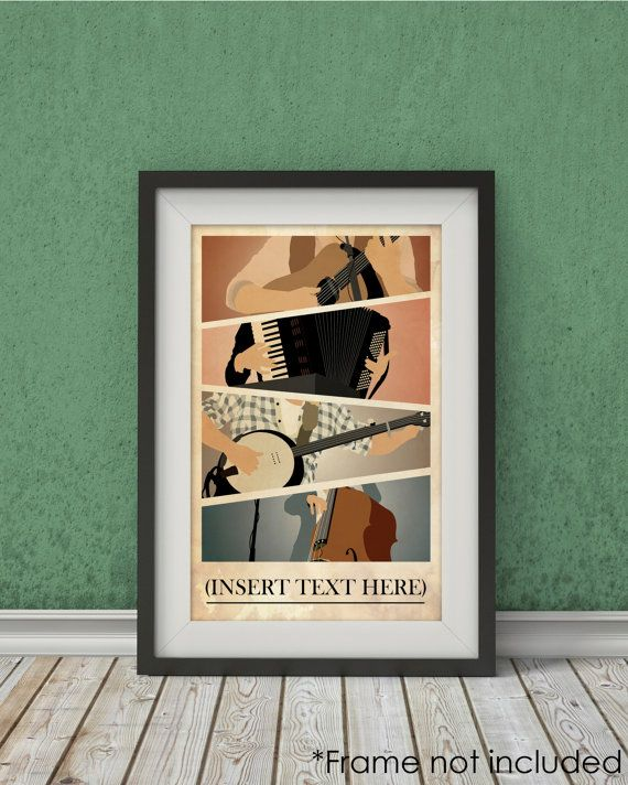 Mumford and Sons inspirierten Plakatkunst - Musik-Poster, Wand