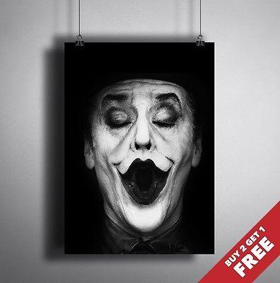 Batman movie 1989 joker #portrait #poster a3 a4 * jack #nicholson joker film prin, View more on the LINK: http://www.zeppy.io/product/gb/2/121727064157/