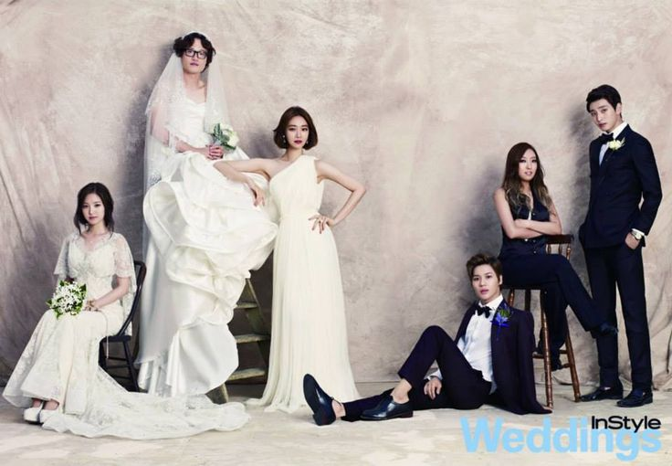 We Got Married - InStyle Weddings Magazine  A boy in a wedding dress and a girl in a suit.