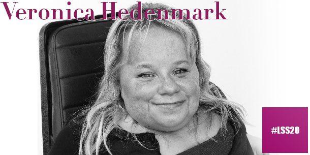 När Veronica gick ut gymnasiet ville Försäkringskassan förtidspensionera henne. Idag, 17 år senare, driver hon istället VH assistans, ett rikstäckande assistansföretag med 1000 personliga assistenter över hela Sverige.  Veronica har själv erfarenhet av personlig assistans, med hjälp av Veronicas assistenter kan hon yrkesarbeta, resa och mycket mer.  Läs mer om våra föreläsare och vårt program på http://www.lss20.se/