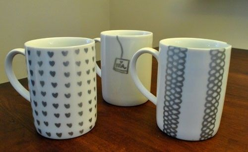 44 best paint pen projects images on pinterest china for Craft smart paint pen on mugs
