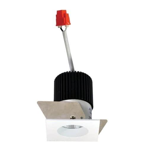 Nora Lighting NIO-1SNG30X Iolite 1 LED 3000K Square Recessed Trim (Black / White (Black/White)) (Aluminum)