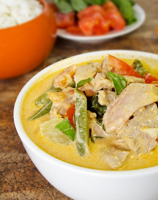 Thai red curry with duck and veggies | Canard | Pinterest