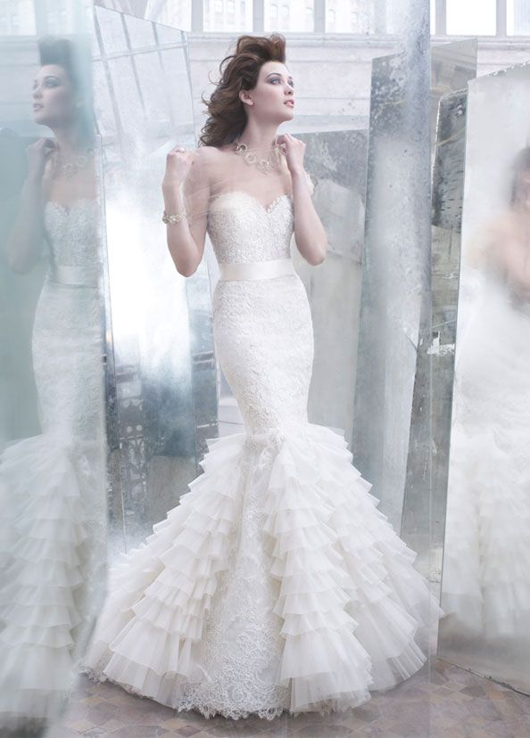 134 best editorial bride images on pinterest high for How much is a lazaro wedding dress