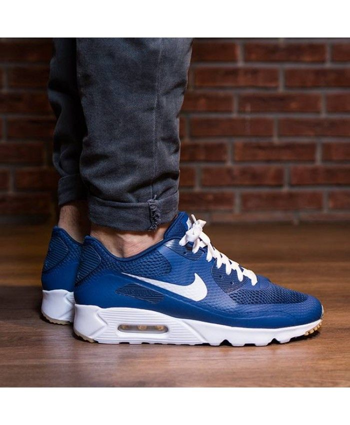 promo code ddfd3 94c6b Nike Air Max 90 Ultra Essential Coastal Blue White Logo Shoes Sale