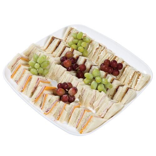 Made and took this to a party,   Everyone loved it.   Made three different types of sandwiches  The grapes were a bit hit as well.