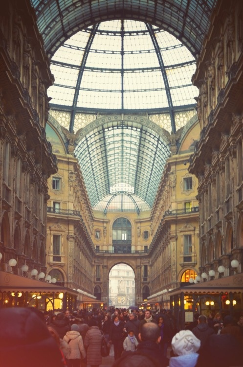 an architectural dream, Milan's Galleria.
