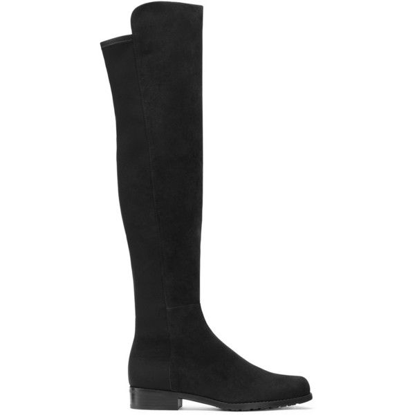 Stuart Weitzman THE 5050 BOOT ($655) via Polyvore featuring shoes, boots, over-the-knee boots, thigh boots, stuart weitzman, over knee boots, stretchy boots and star boots