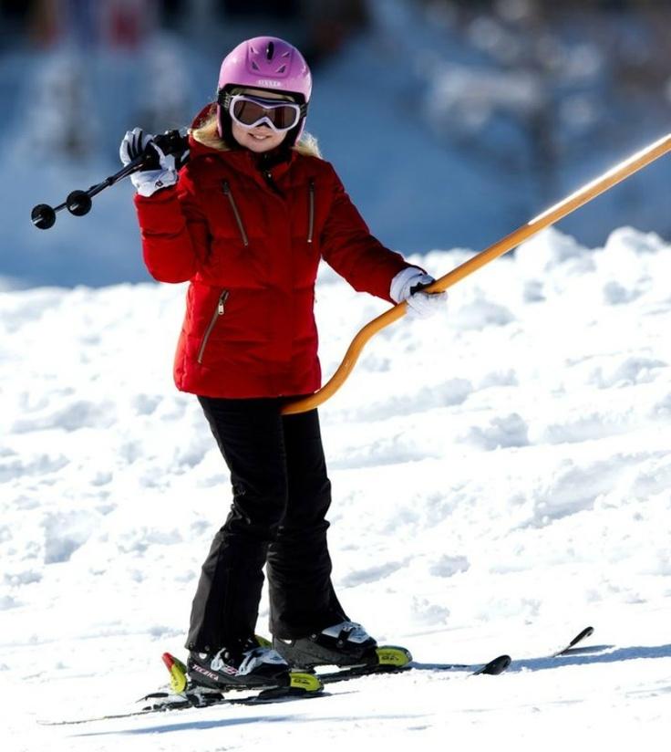 Heiress Presumptive Her Royal Highness Princess Catharina-Amalia skis in Austria