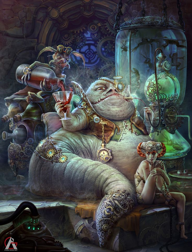 Jabba the hutt (Star War re-imagine contest), Atanu Ghosh on ArtStation at https://www.artstation.com/artwork/6B3oW